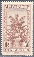 MARTINIQUE   SCOTT NO  J32   MINT HINGED    YEAR 1933 - Neufs