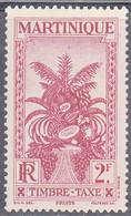 MARTINIQUE   SCOTT NO  J35   MINT HINGED    YEAR 1933 - Neufs
