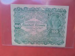 AUTRICHE 100 KRONEN 1922 Circuler - Autriche