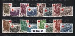 1946 -1947 Red Cross I+II 8v - MNH BULGARIA /Bulgarie - Unused Stamps