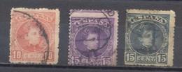 España, 1901/1905, Usado Edifil 243,244 Y 246 - Oblitérés