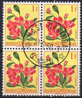 CONGO BELGE - N°177 En Bloc De 4 Oblitération MASI-MANIMBA (Keach Type 8E1) - Airmail: Mint/hinged
