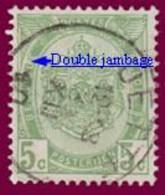 """COB N° 83  Année 1907- """"ARMOIRIES"""" De 1893 - Belle Oblitération """"JETTE"""" + Variété -Trait Entre Le U & E De BELGIQUE - Sonstige"""