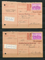 1950 Ontvangkaart RP Carte Récépissé - 2 X Kaart 3 Fr ( Catnr 770 ) Van PEELAERS Schoenfabriek Herentals Naar DERWA .... - Cartas
