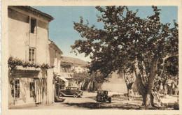 La Bastide Sur L'Hers (Ariège) Place Du Temple Belles Voitures D' Epoque Boulangerie Patisserie RV - Otros Municipios