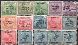 RUANDA-URUNDI - N° 62/76 X  (neufs Avec Charnières - Mint Hinged) - 1924-44: Mint/hinged