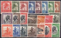 RUANDA-URUNDI - N° 126/147 X  (neufs Avec Charnières - Mint Hinged) - 1924-44: Mint/hinged