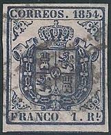 Espagne – Spain N°33 (Yv&T.) 1R Avec Certificat COMEX - RR - CO : 8.500€ - Oblitérés