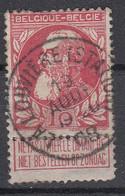 BELGIË - OPB - 1905 - Nr 74 - T1 L (LA LOUVIERE(STATION))  - COBA + 2.00 € - 1905 Breiter Bart
