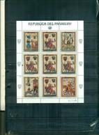 PARAGUAY CONGRES U.P.U. HAMBOURG 1 MINI-FEUILLE DE 5 TIMBRES SURCHARGES NEUF A PARTIR DE 1,75 EUROS - Paraguay