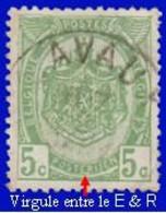 """COB N° 83  Année 1907- """"ARMOIRIES"""" De 1893 - Belle Oblitération """"LAVAUX""""+ Variété - Virgule Entre Le E & R De POSTERIJEN - Sonstige"""