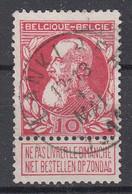 BELGIË - OPB - 1905 - Nr 74 - T2 L (LANKLAER)  - COBA + 8.00 € - 1905 Breiter Bart