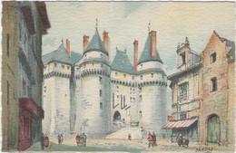 37  Langeais   -   Le Chateau, Le Pont Levis Par Barday - Langeais