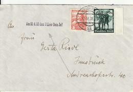 Autriche Lettre Innsbruck Affranchissement Mixte 1938 - Briefe U. Dokumente