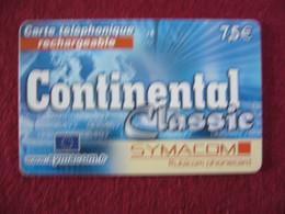 Telecarte  / Carte Prepayée   / Continental - Tarjetas Prepagadas: Otras