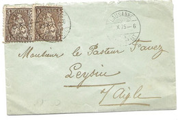 20 -  40 - Petite Enveloppe Envoyée De Lausanne 1875 - Briefe U. Dokumente