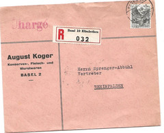20 -  45 - Enveloppe Recommandée Envoyée De Basel 1943 - Briefe U. Dokumente