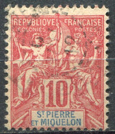 SAINT PIERRE ET MIQUELON - Y&T  N° 73 (o) - Used Stamps