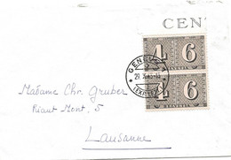 20 -  47 - Enveloppe Envoyée De Genève 1943 - Superbe Cachet à Date - Briefe U. Dokumente
