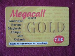Telecarte  / Carte Prepayée   / Mega Gold - Tarjetas Prepagadas: Otras
