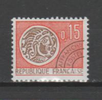 FRANCE / 1964-1969 / Y&T PREO N° 124 ** : Monnaie Gauloise 15c - Gomme Intacte - 1964-1988