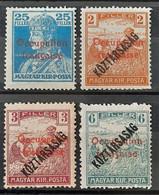HONGRIE (ARAD Occupation Française) - N°25-27-27A-30 -  Neuf SANS Charnière ** / MNH - Neufs