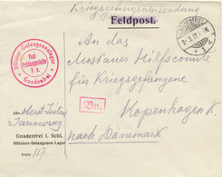 DEUTSCHES REICH 1917 Kriegsgefangenenbrief Offiziers-Gefangenen-Lager GNADENFREI - Cartas
