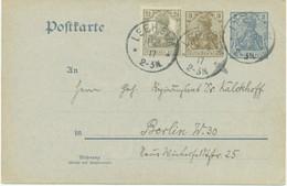 DEUTSCHES REICH LEEHEIM K1 3 Pf+2 Pf Deutsches-Reich-Aufbrauchsausgabe FRANZ KALCKHOFF - Cartas