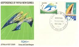 (KK 4) Australia 1975 FDC Cover - Papua New Guinea Independence -  Bankstown Postmark - FDC