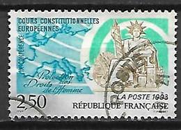 FRANCE    -    1993.  Y&T N° 2808 Oblitéré.   Cours Constitutionnelles Européennes. - Oblitérés
