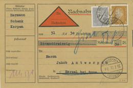 DEUTSCHES REICH 1932 Friedrich Ebert 3 Und 20 (Pf) Selt. MiF A. Kab.-Nachnahme - Lettres & Documents