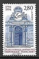 FRANCE    -    1994.  Y&T N° 2907 Oblitéré.   Ecole Normale Supérieure - Oblitérés