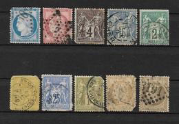 Lot De 10 Timbres Français Anciens ( Avant 1900 )  Avec Défauts - Ohne Zuordnung