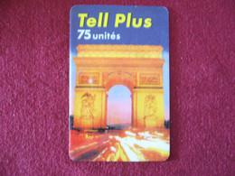 Telecarte  / Carte Prepayée   /  Tell Plus - Tarjetas Prepagadas: Otras