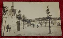 WERVIK -  WERVICQ  -   Steenackerplaats En Ziekenhuis  -  Place Du Steenacker Et Hôpital - Wervik