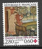 FRANCE    -    1994.  Y&T N° 2915 Oblitéré.   Croix - Rouge.  Tapisserie D'Arras - Oblitérés
