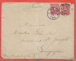 ALLEMAGNE LETTRE DE 1888 DE METZ POUR LONGUYON FRANCE (PLI) - Cartas