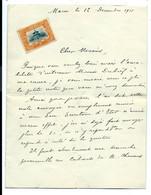 Lettre Avec Timbre Chinois - Briefe U. Dokumente