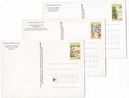 ENTIERS POSTAUX 6 FABLES DE LA FONTAINE - Cartes Postales Types Et TSC (avant 1995)