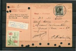 1935 Ontvangkaart RP Carte Récépissé - Kaart 70c Van MARCEL MIGNET Et JOSEPH BOY Fabricants De Formes De Chapeaux ...... - Cartas