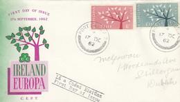 Env Addr IRLANDE 155 + 156 Obl PORTLAIRGE Du 17.IX.62 EUROPA - Briefe U. Dokumente
