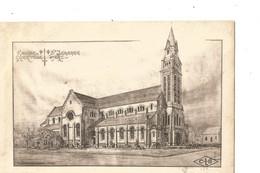 LORIENT Eglise Ste Jeanne D ARC A Merville (correspondance Inedite Tres Interressant Voir Verso Tres Rare) - Lorient