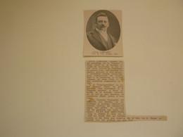 """Origineel Knipsel ( C 91 ) Uit Tijdschrift """" Ons Volk Ontwaakt """" 1914 :   Louis Lampaert  Burgemeester Van Nevele - Ohne Zuordnung"""