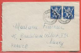 BELGIQUE LETTRE DE 1945 DE KNOKKE POUR NANCY FRANCE - Autres