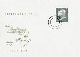 Music - DDR -  FDC - Composers Lizst And Berlioz   -  1986 ?? -   Unused - Muziek