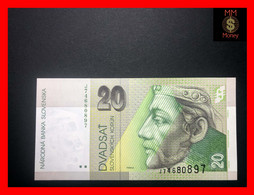 SLOVAKIA 20 Korun 31.8.2001  P. 20 E  UNC - Slovakia