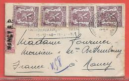 BELGIQUE LETTRE DE 1948 DE BRUXELLES POUR NANCY FRANCE - Autres
