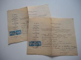 OISE, BULLES, 1932 1933, ENSEMBLE DE 2 DECLARATIONS DE TSF POSTE RADIO AFFRANCHISSEMENT - Unclassified