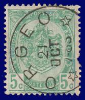 """COB N° 83  Année 1907- """"ARMOIRIES"""" De 1893 - Belle Oblitération DR """"ORGEO"""" - Sonstige"""
