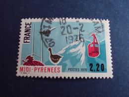 """1970-89  - Oblitéré N°  1866      """"    Midi Pyrénées  """"  """"    1976  """"         Net    0.80 - Usados"""